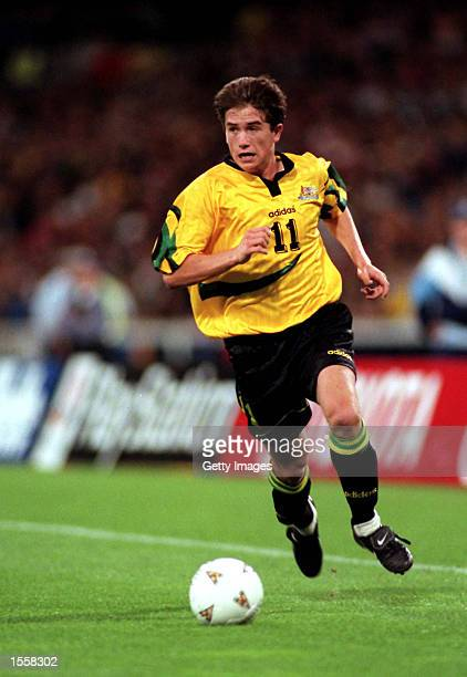 Harry Kewell of Australia in action during the second leg of the World Cup Qualifier between Australia and Iran played at the MCG MelbourneAustralia...