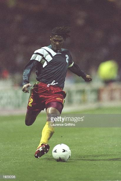 Rigobert Song of Cameroon in action during the International Friendly against England at Wembley Stadium in London England won 20 Mandatory Credit...