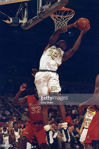 Center Greg McQuay of the Purdue Boilermakers in action during the PreSeason NIT Game against the St John''s Red Storm at the Madison Square Garden...