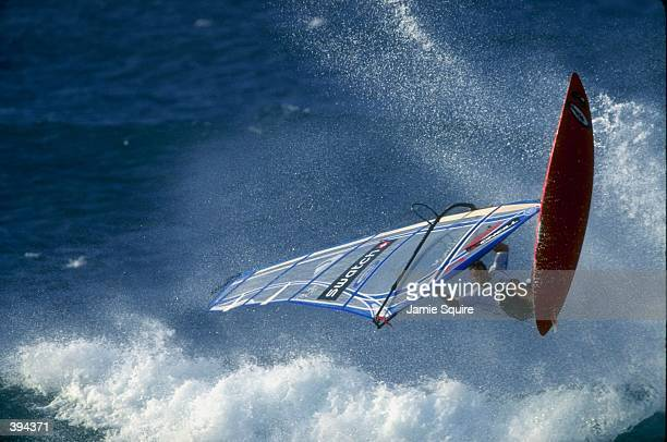 Dave Kalama in action during the Swatch Aloha Wave Classic at Ho''Okipa Beach in Maui Hawaii