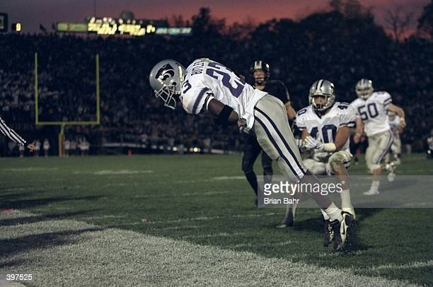 Defensive back Jerametrius Butler of the Kansas State Wildcats in action during the game against the Missouri Tigers at Faurot Field in Columbia...