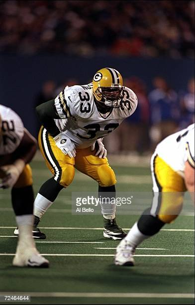 Fullback William Henderson of the Green Bay Packers in action during the game against the New York Giants at the Giants Stadium in East Rutherford...