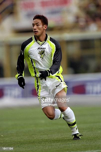 Hidetoshi Nakata of Perugia in action during the Serie A match against Bologna at the Stadio Renato Dall''Ara in Bologna, Italy. \ Mandatory Credit:...