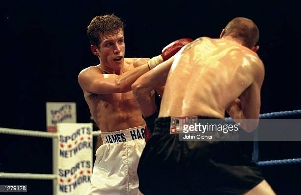 James Hare fights against Peter Nightingale in Sheffield England Ryan Rhodes wins the fight Mandatory Credit John Gichigi /Allsport