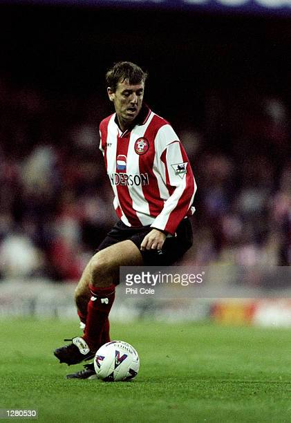 Matt Le Tissier of Southampton in action during the Fa Carling Premiership match against Aston Villa at The Dell in Southampton England Aston Villa...