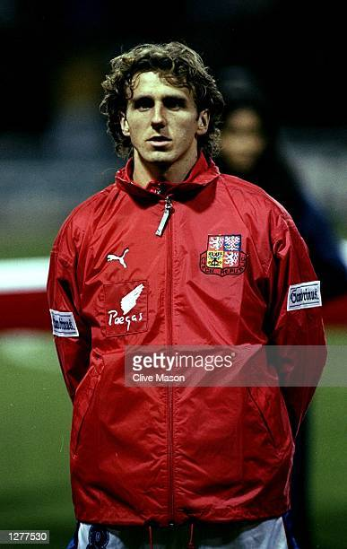 Portrait of Karel Poborsky of the Czech Republic lining up for the International friendly against England at Wembley in London Mandatory Credit Clive...