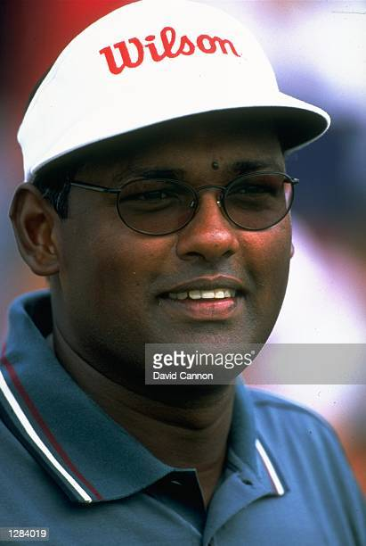 Portrait of Vijay Singh of Fiji at the Johnnie Walker Super Tour at Mission Hills GC in Shenzhen China Mandatory Credit David Cannon /Allsport