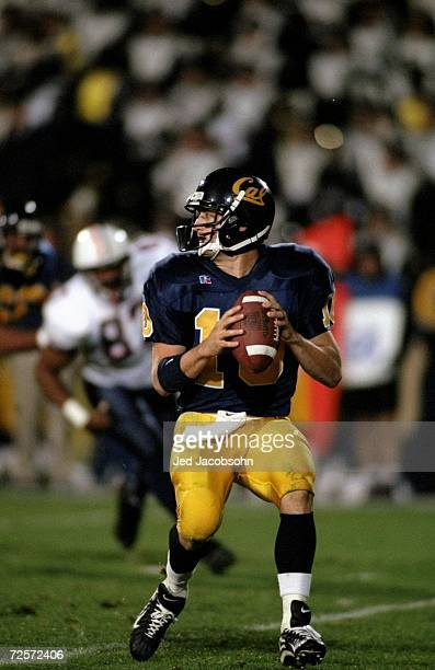 Quarterback Justin Vedder of the California Golden Bears in action during the game against the Arizona Wildcats at the Memorial Stadium in Berkeley...