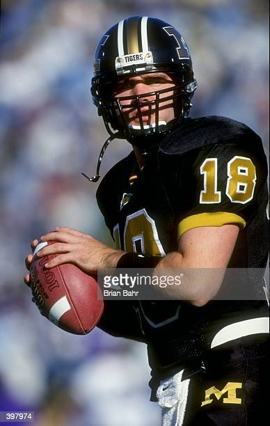 Quarterback Kurt Propst of the Missouri Tigers in action during the game against the Kansas State Wildcats at Faurot Field in Columbia Missouri The...