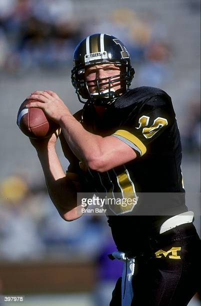 Quarterback Ryan Douglas of the Missouri Tigers in action during the game against the Kansas State Wildcats at Faurot Field in Columbia Missouri The...