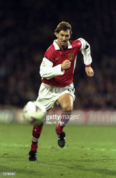 Tony Adams of Arsenal in action during the FA Carling Premiership match against Wimbledon at Selhurst Park in London Wimbledon won 10 Mandatory...
