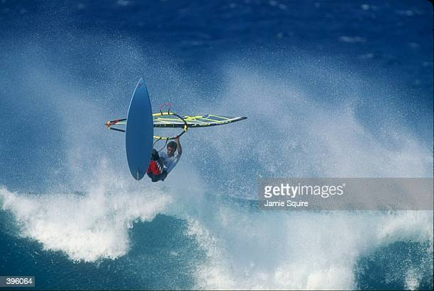 Vidar Jensen in action during the Swatch Aloha Wave Classic at Ho''Okipa Beach in Maui Hawaii