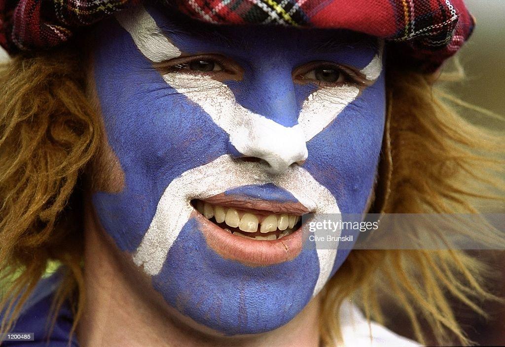 Scotland fan : Nachrichtenfoto