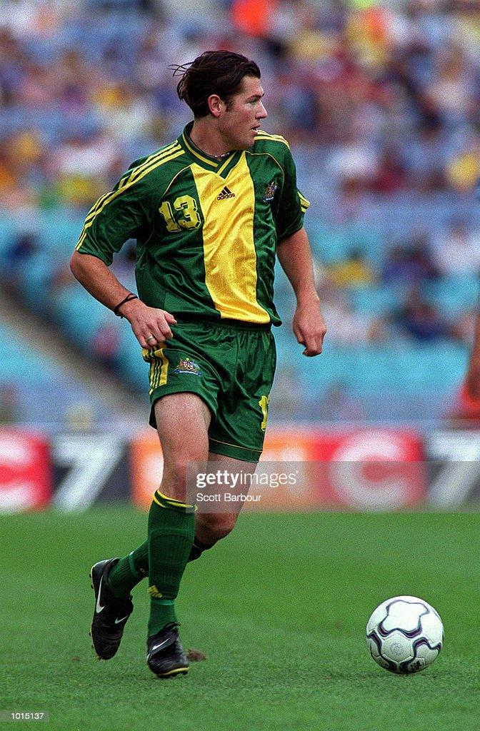 Brett Emerton of Australia in action against Brazil during the friendly soccer game played at Stadium Australia, Homebush, Sydney, Australia. Mandatory Credit: Scott Barbour/ALLSPORT