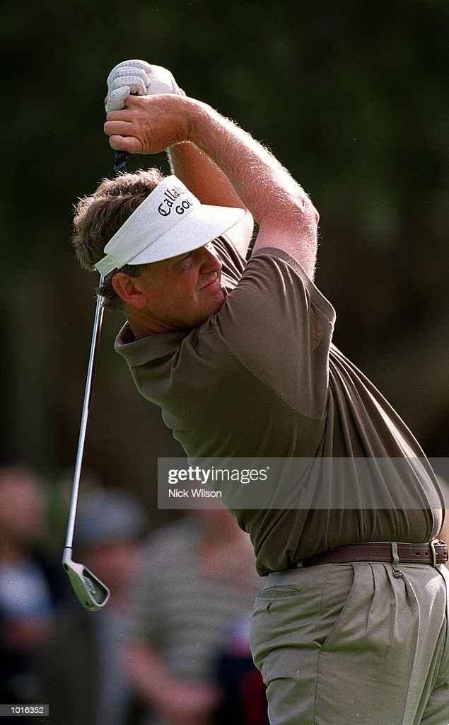 Colin Montgomerie of Scotland in action during his third round of 10 under par at the Australian Open golf at the The Royal Sydney Golf Course, Sydney, Australia. Mandatory Credit: Nick Wilson/ALLSPORT