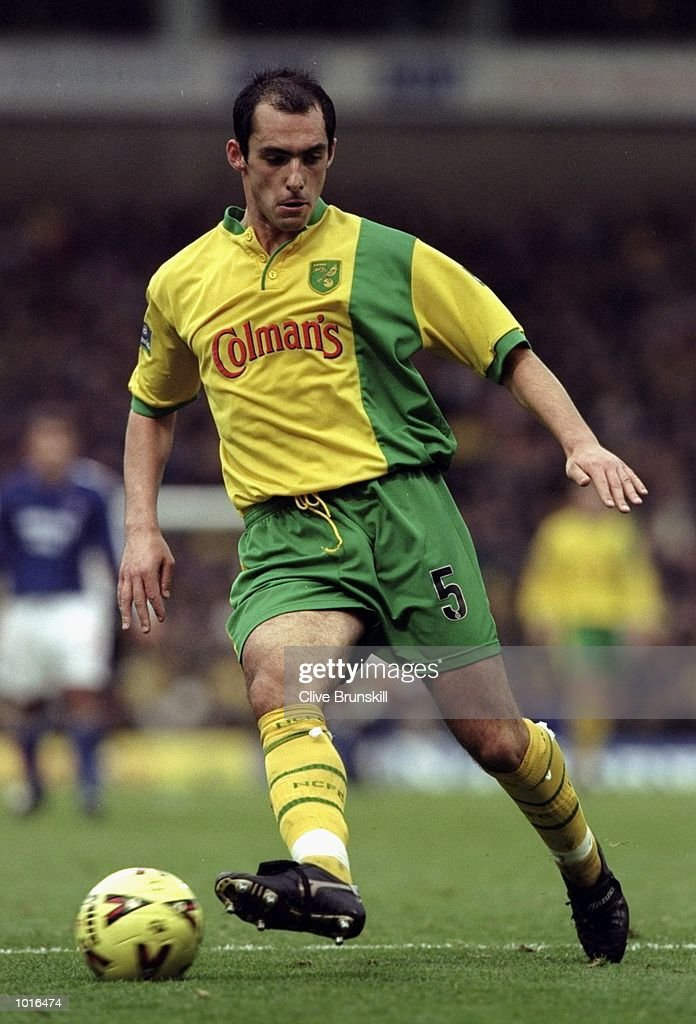 Craig Fleming of Norwich City in action during the Nationwide League Division One match against Ipswich Town played at Carrow Road in Norwich, England. The East Anglian derby finished in a 0-0 draw. \ Mandatory Credit: Clive Brunskill /Allsport