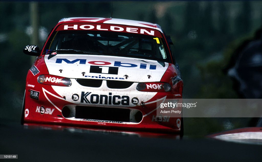 Craig Lowndes and Cameron McConville of the Mobil Holden Racing Team in action during the FAI 1000 at Mount Panorama, Bathurst, New South Wales, Australia. Mandatory Credit: Adam Pretty/ALLSPORT