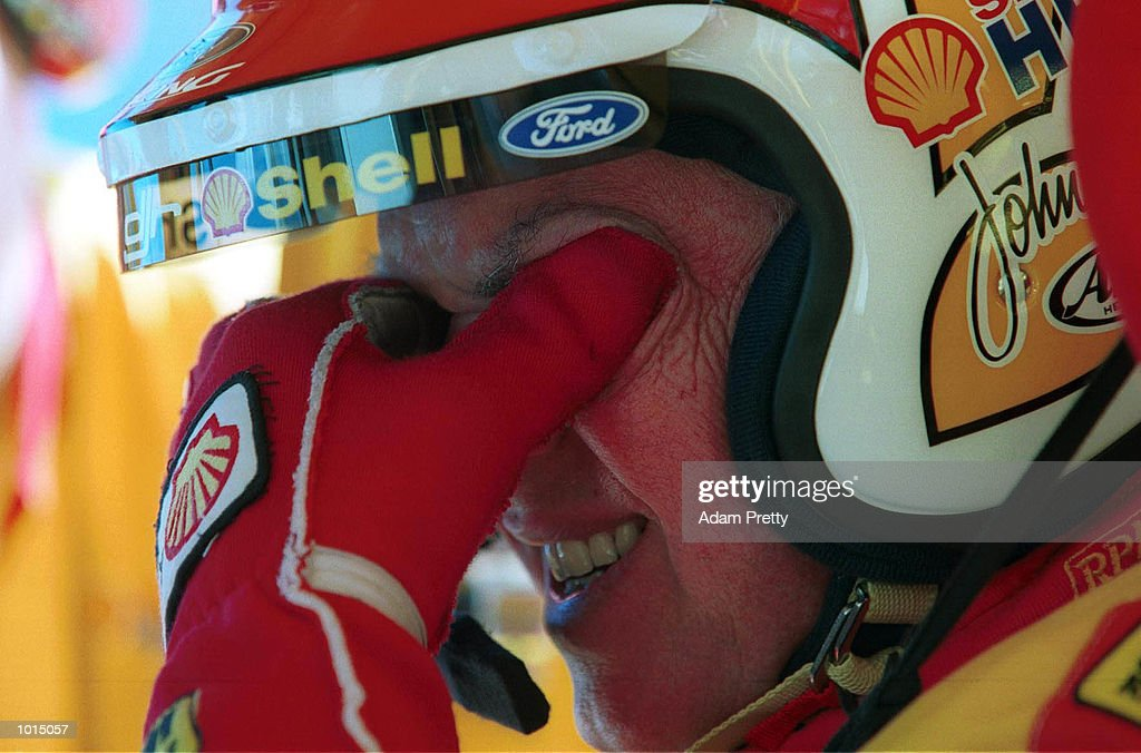 Dick Johnson of Australia is emotional before his last ever V8 Supercars Top Ten Shootout, at the FAI 1000, Mount Panorama, Bathurst Australia. Mandatory Credit: Adam Pretty/ALLSPORT