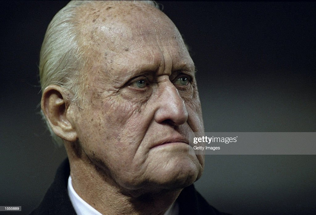 Former FIFA President Joao Havelange watched the action during the International Friendly between Spain and Brazil played at the Estadio Balaidos in Vigo, Spain. The game finished in a 0-0 draw. \ Photo by Nuno Correia. \ Mandatory Credit:AllsportUK /Allsport
