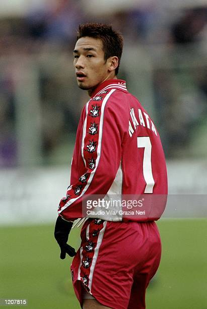 Hidetoshi Nakata of Perugia during the Serie A match against Fiorentina at the Artemio Franchi Stadium in Florence, Italy. Fiorentina won 1-0. \...