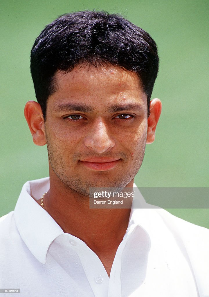 Hrishikesh Kanitkar of India during a Portrait session, at the ''Gabba, Brisbane, Australia. Mandatory Credit: Darren England/ALLSPORT