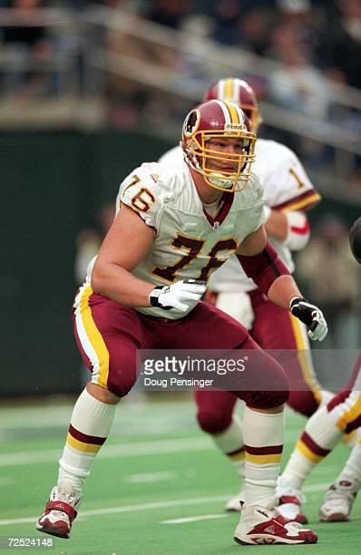Jon Jansen of the Washington Redskins move to block the line during the game against the Philadelphia Eagles at the Veterans Stadium in Philadelphia...