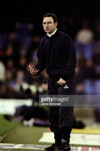 Leicester City manager Martin O''Neill during the FA Carling Premiership match against Wimbledon at Filbert Street in Leicester England Leicester won...
