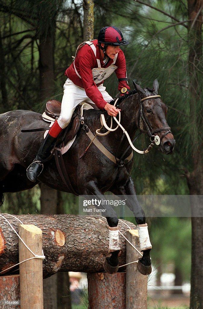Luke Jones of South Australia on Racketeer in action during the Adelaide International horse trials-Cross Country at Victoria Park, Adelaide, Australia. Mandatory Credit: Matt Turner/ALLSPORT