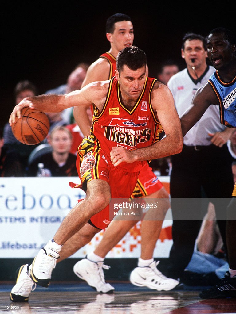 Mark Bradtke of Melbourne drives, during the game between Melbourne and West Sydney at Melbourne Park, Melbourne, Australia. Melbourne defeated West Sydney 103 - 97. Mandatory Credit: Hamish Blair/ALLSPORT