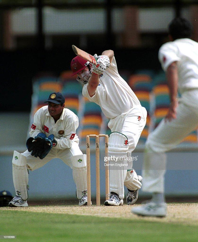 Martin Love of Queensland in action against India at the Gabba Cricket Ground in Brisbane,Australia. Mandatory Credit: Darren England/ALLSPORT