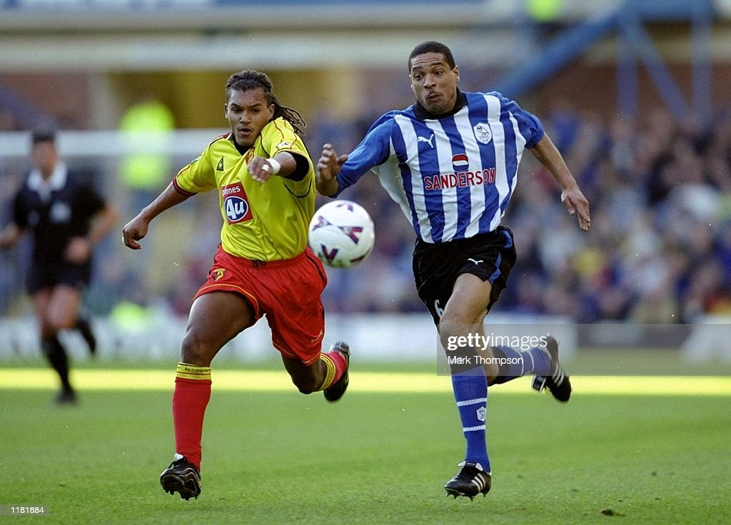 Nordin Wooter and Des Walker : News Photo