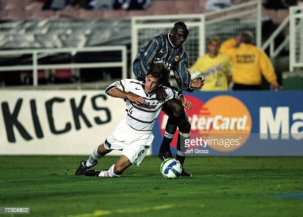 Paul Broome of the Dallas Burn in action against the Los Angeles Galaxy during the MLS Western Conference Final game at the Rose Bowl in Pasadena...