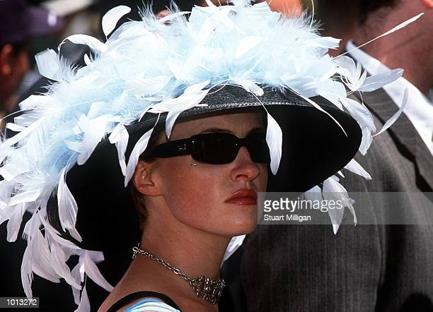 Racing fans display the latest in spring fashion, on Oaks Day, traditionally Ladies Day, held at Flemington Racecourse, Melbourne, Australia....