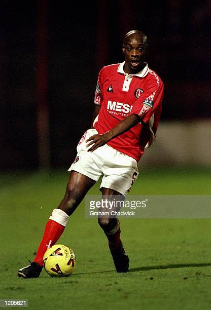 Richard Rufus of Charlton Athletic in action during the Nationwide Division One match against Manchester City played at The Valley in Charlton London...