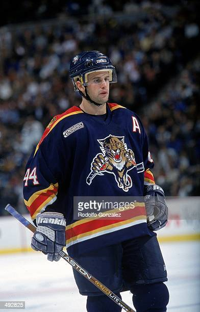 Rob Niedermayer of the Florida Panthers looks on from the ice during the game against the Colorado Avalanche at the Pepsi Center in Denver, Colorado....