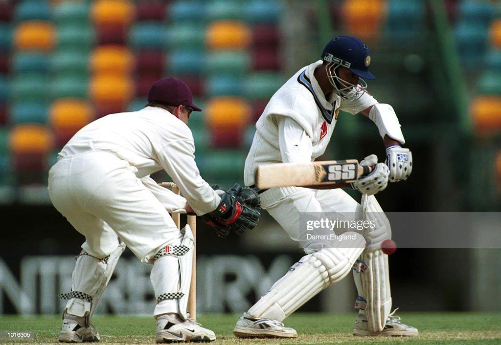 Vangipurapu Venkata Sai Laxman of India in action against Queensland at the Gabba cricket ground in Brisbane. Mandatory Credit: Darren England/ALLSPORT