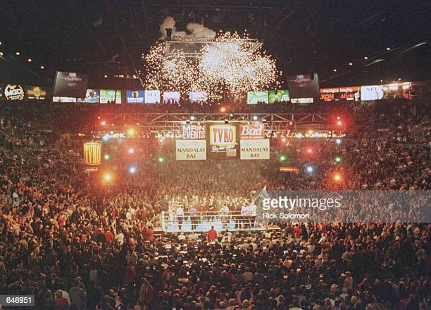 A general view of the ring before the start of the Lennox Lewis and David Tua WBC/IBC Heavyweight Championship fight at the Mandalay Bay Resort...