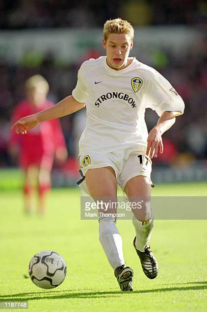 Alan Smith of Leeds United in action during the FA Carling Premiership match against Liverpool at Elland Road in Leeds England Leeds United won the...