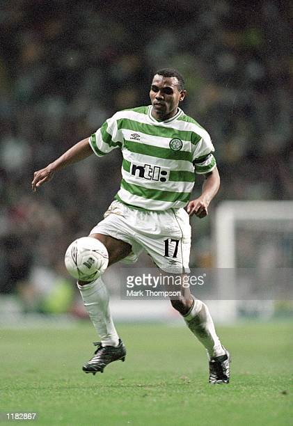Didier Agathe of Celtic in action during the UEFA Cup 2nd round 2nd leg match against Bordeaux played at Celtic Park in Glasgow Scotland Bordeaux won...