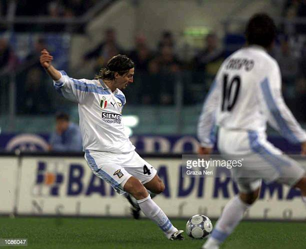 Dino Baggio of Lazio scores a goal during the Serie A match between Lazio v Milan played at the Olympic Stadium, Rome, Italy. Mandatory Credit:...