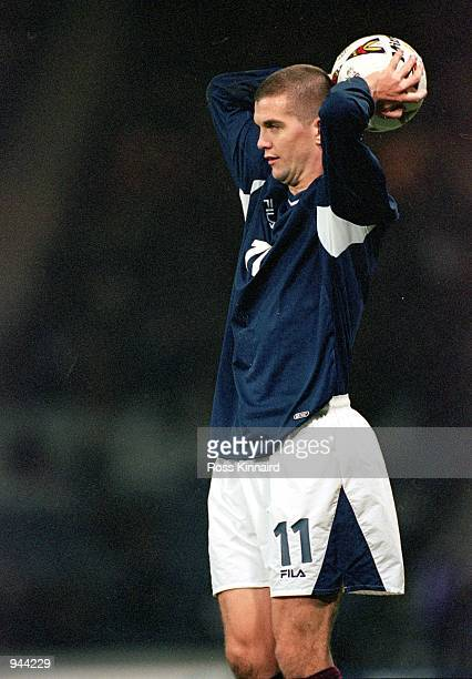 Dominic Matteo of Scotland in action during the International Friendly match against Australia at Hampden Park in Glasgow, Scotland. Australia won...