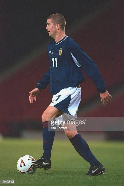 Dominic Matteo of Scotland on the ball during the International Friendly match against Australia played at Hampden Park in Glasgow Scotland Australia...