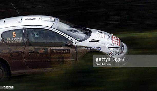 Francois Delecour of France in his Peugeot 206 on stage 6 of the Network Q Rally in Wales Mandatory Credit Clive Mason/ALLSPORT