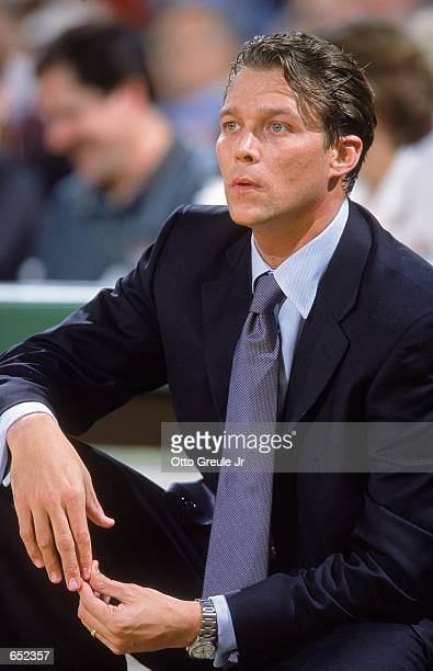 Head Coach Quin Snyder of the Missouri Tigers watches the action from the bench during the Great Alaska Shootout against the Valparaiso Crusaders at...