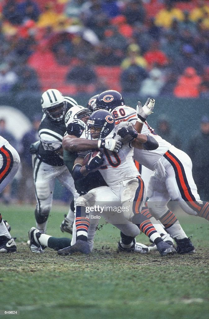 James Allen of the Chicago Bears get taken down by Casey