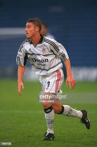 Lee Clark of Fulham in action during the Nationwide League Division One match against Wimbledon played at Selhurst Park in London Fulham won the...