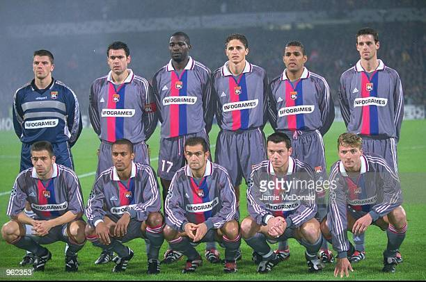 Lyon team group before the UEFA Champions League Group match against Olympiakos played at the Stade de Gerland in Lyon France Lyon won the match 10...