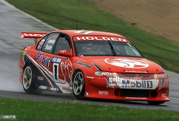 Mark Skaife driving the Holden Racing Team Commodore VT in action during practice for the FAI 1000 V8 Supercar race at Mount Panarama in Bathurst...