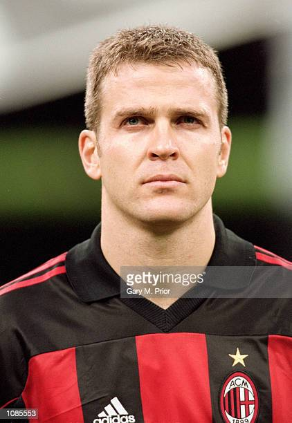 Oliver Bierhoff of AC Milan pictured before the UEFA Champions League match against Leeds United at the San Siro in Milan Italy The match was drawn...