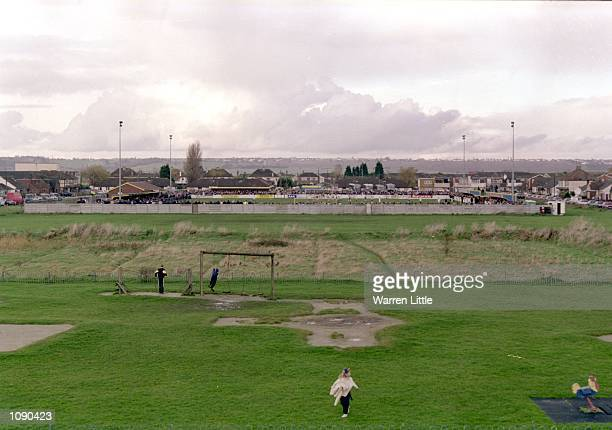 Park Lane home of Canvey Island during the FA Cup 1st round match against Port Vale played at Park Lane in Canvey Island England The match ended in a...